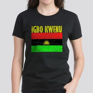 Biafra t shirts cafepress biafran flag womens dark t shirt altavistaventures Images