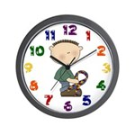 Autistic Boy Wall Clock
