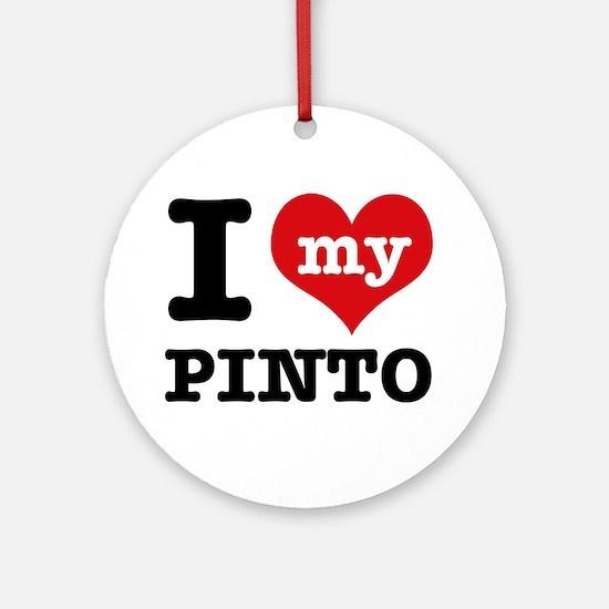 i love my Pinto Ornament (Round)