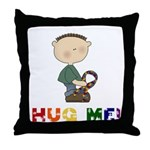 Autistic Boy Throw Pillow