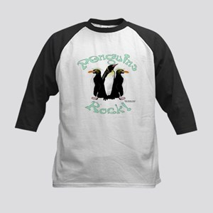 Penguins Rock Kids Baseball Jersey