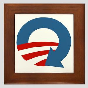 Obama_recycle Framed Tile