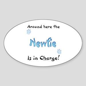 Newfoundland Charge Oval Sticker