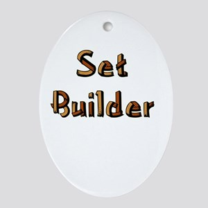 Set Builder Oval Ornament