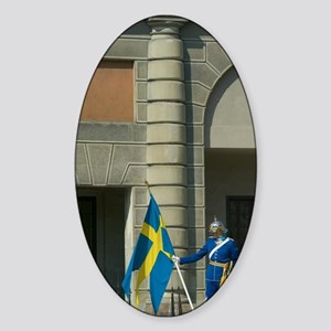 Stockholm royal guard, changing of  Sticker (Oval)