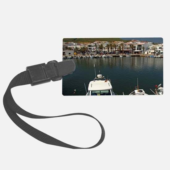 Fishing village of Fornells on t Luggage Tag