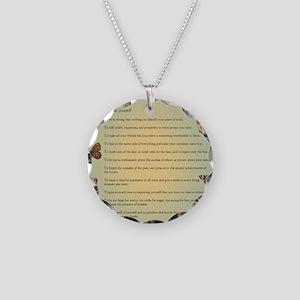 Optimist Creed Necklace Circle Charm