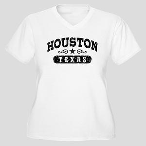 Houston Texas Women's Plus Size V-Neck T-Shirt