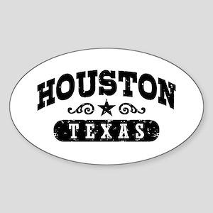 Houston Texas Sticker (Oval)