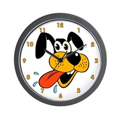Cartoon Dog Wall Clock