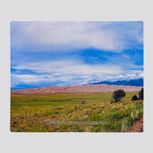 Great Sand Dunes National Park and P Throw Blanket