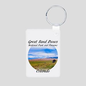 Great Sand Dunes National Aluminum Photo Keychains
