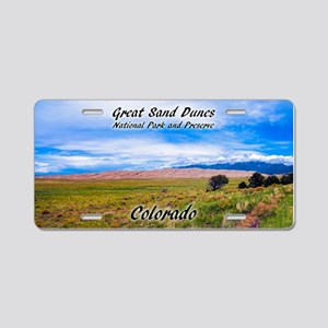 Great Sand Dunes National P Aluminum License Plate
