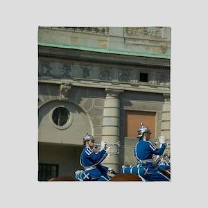 Stockholm royal guard, changing of g Throw Blanket