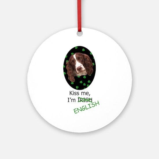 Kiss Me Ornament (Round)
