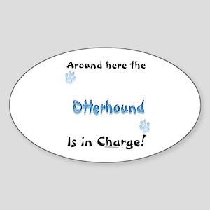 Otterhound Charge Oval Sticker