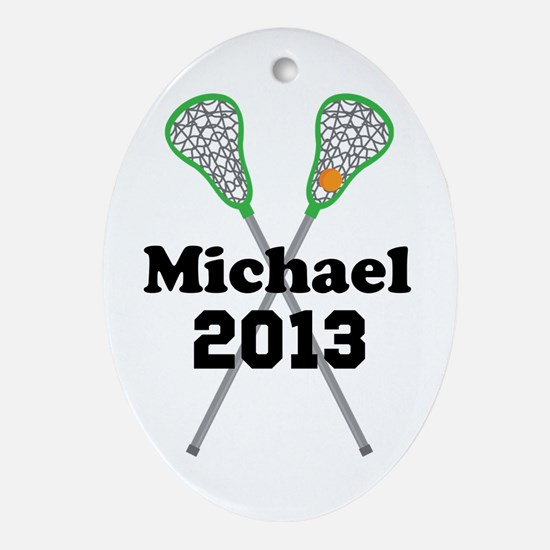 Personalized Lacrosse Ornament (Oval)