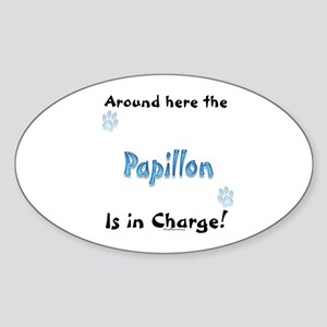 Papillon Charge Oval Sticker
