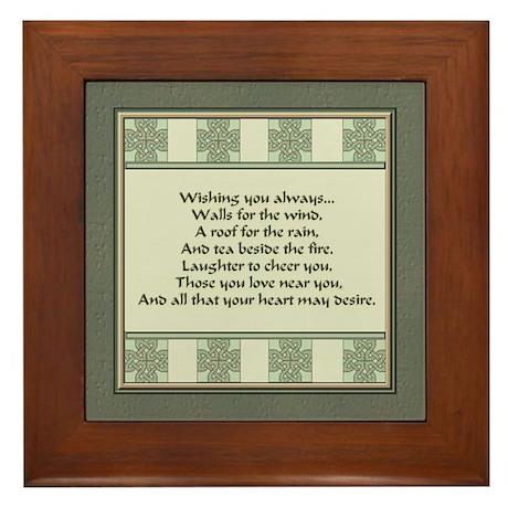 Irish Blessing Framed Tile