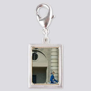 Stockholm royal guard, chang Silver Portrait Charm