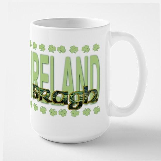 Erin Go Brach Shamrock  Large Mug
