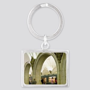Russia. Moscow. Moscow Metro. P Landscape Keychain