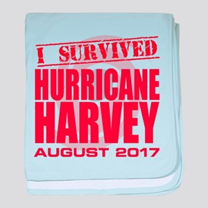 I Survived Hurricane Harvey baby blanket