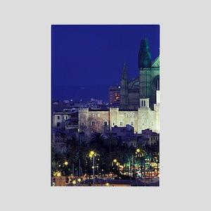 Palma de Mallorca. Evening view o Rectangle Magnet