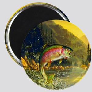 Rainbow Trout Jumping Magnet