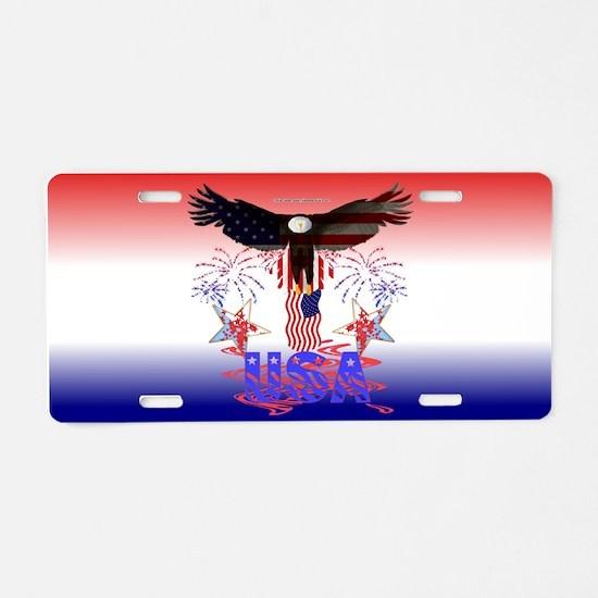USA Eagle Aluminum License Plate