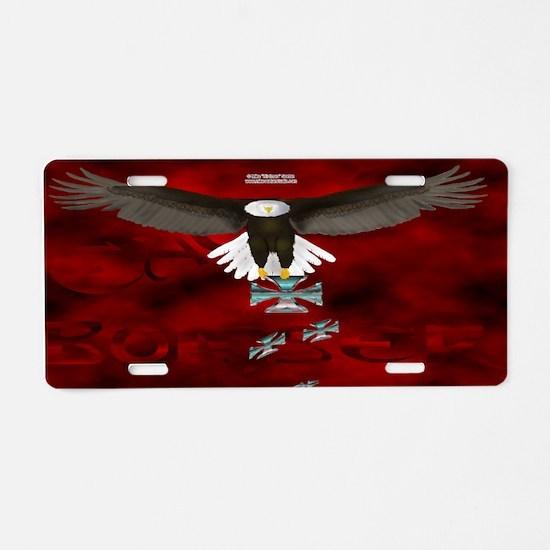 Eagle Bomber Aluminum License Plate