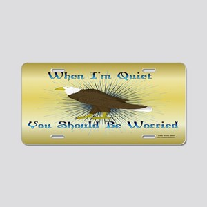 Quiet Eagle Aluminum License Plate