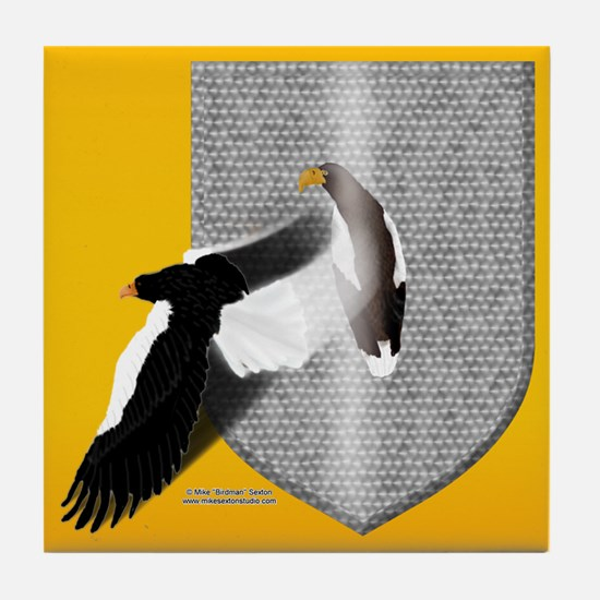 Eagle Shield Tile Coaster