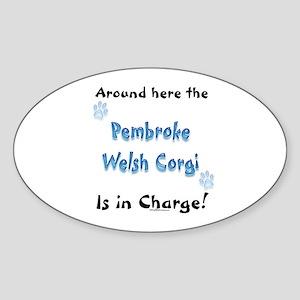 Pembroke Charge Oval Sticker