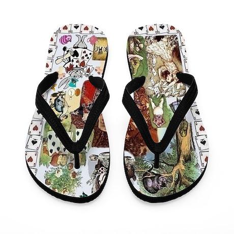 Wonderland Flip Flops