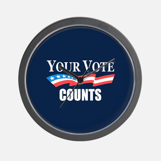 Your Vote Counts Wall Clock