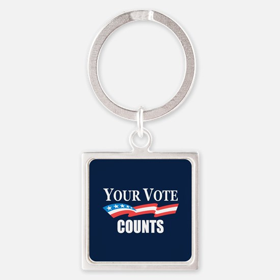 Your Vote Counts Keychains