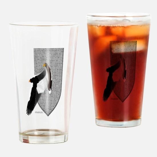 Eagle Shield Drinking Glass