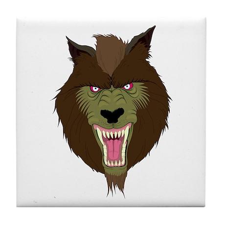Werewolf Tile Coaster