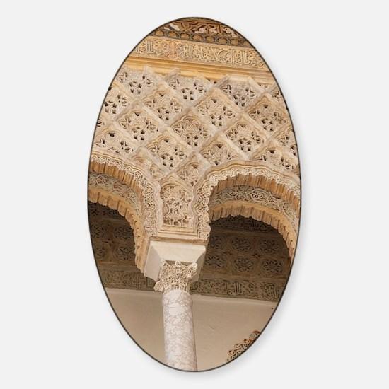 Patio de las Doncellas courtyard ar Sticker (Oval)