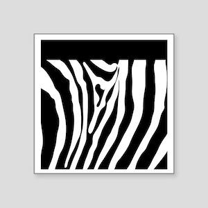"""Trendy Zebra Stripe Nook Ki Square Sticker 3"""" x 3"""""""