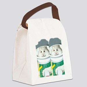 White-Albino Hamster Canvas Lunch Bag
