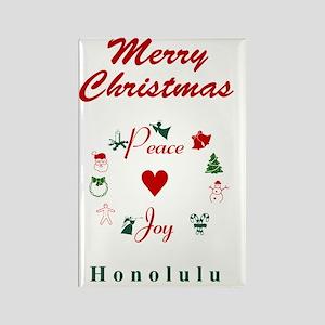 Honolulu_5x7_Christmas Stocking_P Rectangle Magnet