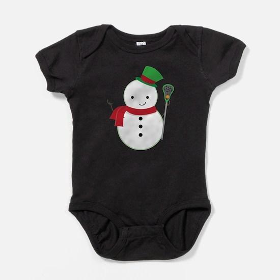 Lacrosse Christmas Snowman Baby Bodysuit