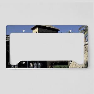 Europe, Spain, Granada. The A License Plate Holder
