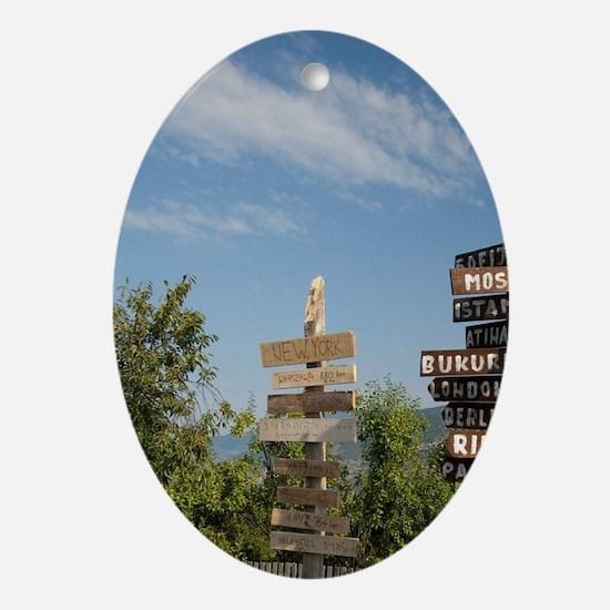 Serbia, Donji Milanovac. Oval Ornament