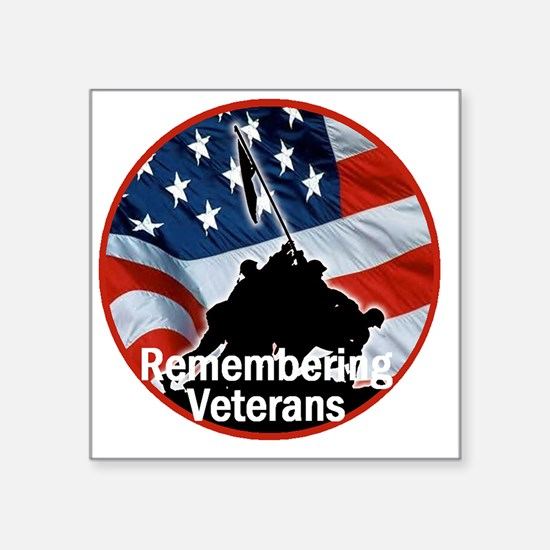"Veterans Square Sticker 3"" x 3"""