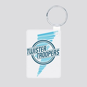 Twister_troopers_blue Aluminum Photo Keychain
