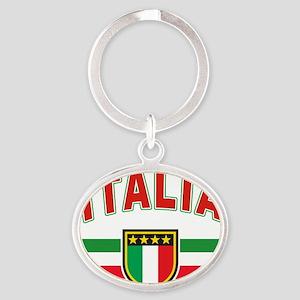 Italian Pride Oval Keychain