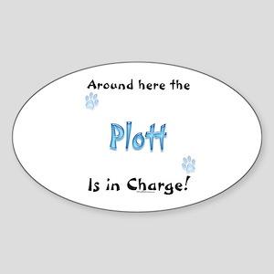 Plott Charge Oval Sticker